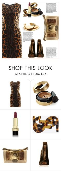 """""""Hot Date Night Style"""" by dragananovcic ❤ liked on Polyvore featuring Dolce&Gabbana, Elizabeth Arden, Yves Saint Laurent, Chanel and Gianvito Rossi"""