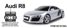 Remote Control 1:20 Licensed Audi R8 RC Car Re-Chargeable Grey Full Function New