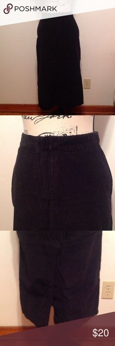 """Eddie Bauer corduroy skirt - NWOT New, never worn Eddie Bauer long corduroy skirt. Perfect staple for your wardrobe. This would be adorable with a cozy sweater and great pair of boots. 32"""" in length Eddie Bauer Skirts"""