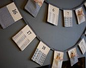 Christmas Advent Calendar Bunting by Bunting Boutique.