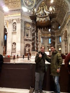 Have you seen the St. Peter's Baldachin in St Peter's Basilica? Our guide Davide took this photo with our client on February 19th during their early morning tour of the Vatican Museum. Davide was able to give our clients skip the line access into the Vatican Museums with access into St Peter's Basilica so they could enjoy seeing the Museum without the busy crowds.