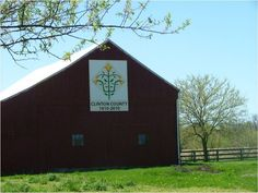 Rebecca's Freedom Lily - #3 on the Clinton County Bicentennial Barn Quilt Trail - Ohio.  In Clinton County, Ohio; Southwest Ohio.  54 Barn Quilts!