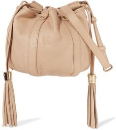 See by Chloé Vicki Mini Textured-Leather Bucket Bag