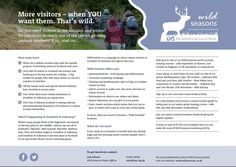 Nature tourism events this Autumn.