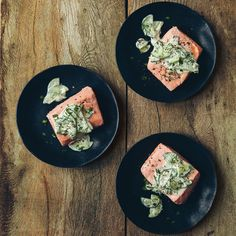 This one-pot recipe for slow cooker salmon with yogurt sauce is flavored by a cucumber-yogurt mixture that serves as both sauce and salad.