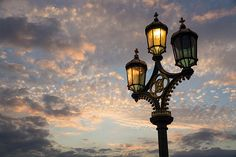One Light Out - Westminster Bridge Streetlights - River Thames In London Uk © Georgia Mizuleva