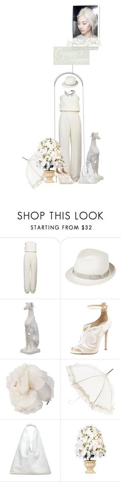 """White on White"" by iamnotsuperman-ak ❤ liked on Polyvore featuring Loewe, Holmes & Yang, Anthony Peto, Urban Trends Collection, B Brian Atwood, Jane Tran, Lisbeth Dahl, Maison Margiela and Karl Lagerfeld"