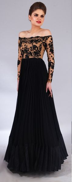 Wedding Cocktail Gowns - Off Shoulder Black Gown | WedMeGood  Black Off-Shoulder Cocktail Gown! Find it on wedmegood.com #wedmegood #cocktail #gowns #black