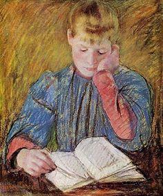 Mary Cassatt - Jovem rapariga lendo