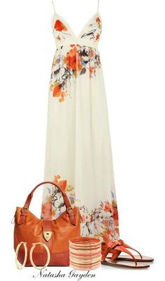 They are airy and stylish. Maxi dress outfits are starring both in morning appearances on the beach or around town, and on women outfits i. Mode Outfits, Dress Outfits, Fashion Outfits, Womens Fashion, Dress Fashion, Fashion Ideas, Wearing Dresses, Fashion 2015, Stylish Outfits