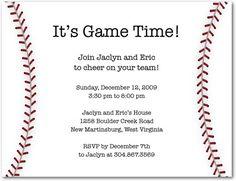 Cap Creations Baseball Invitation Birthday Party Ideas