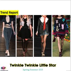 Twinkle Twinkle Little Star. Star Print Fashion Trend for Spring Summer 2015.Diesel Black Gold, Givenchy, Saint Laurent, and Tommy Hilfiger #Spring2015 #SS15 #Fashion