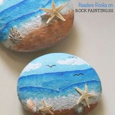 How to paint beach painted rocks. Paint fun waves onto stones with this video tutorial.