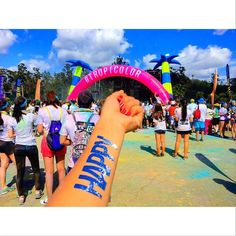 THINK BLUE: Keep challenging yourself HAPPY   #colorrun #thecolorrun #color #run #losangeles #colorrun2016 #california #LAlife #colorful #happy #happy #exciting #fun #running #happiest #blue #nice #sunnyday  #カラーラン #ラン #カリフォルニア #楽しい #カラフル #カラー #ハッピー #ロサンゼルス #チャレンジがあるから幸せも生まれると思う by ikuko_0711