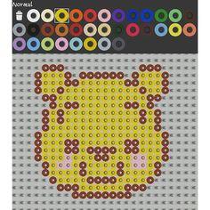 Winnie the Pooh perler pattern by yan_alisa