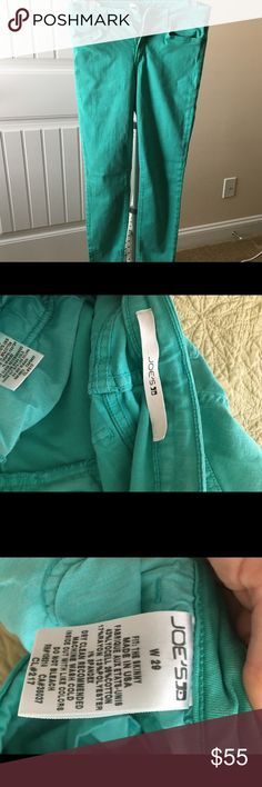 Joes jeans size 29 Green jeans by Joe's. Super comfy, only worn twice. They are a little big on me because they do stretch with wear. Joe's Jeans Jeans Skinny