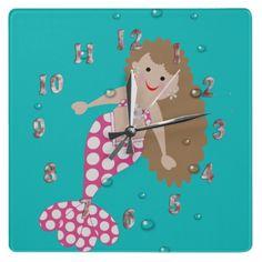 Cute Mermaid Kids Decorative Wall Clock