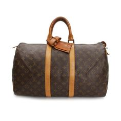 Louis Vuitton Keepall 45 Monogram Luggage Brown Canvas M41428