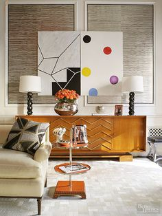 Gather inspiration from these cool wall art ideas! Design your living room, bathroom, bedroom and kitchen with the wall decor in mind. Think geometric shapes, bold artwork and sculptures, high-contrast finishes and rich materials. Find DIY projects, shabby chic ideas, cheap decor and more here.