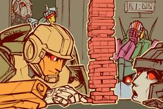 I love Grimlock in the back, and he's just pushing him away like 'Shhh!' :)---- ANYTIME IS JANGA TIME!