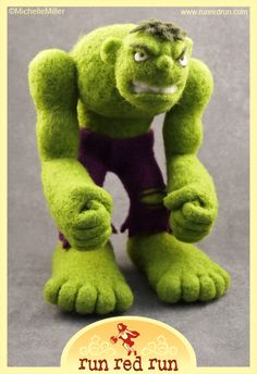 Needle Felted Incredible Hulk