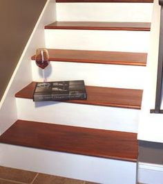 How To Instructions on re-doing your Stair Treads from carpet to wood!  Doing this in January 2013!!!