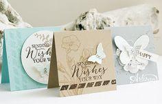 Mini notecards, Bitty Butterfly Punch, Butterfly Basics, Envelope Punch Board, Butterflies thinlits - Inge Groot-
