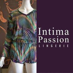Saída de praia em estampa digital, muito estilo para mulheres sofisticadas e elegantes Intima Passion Lingerie Coleção Beach.