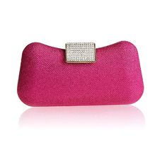 """Fineplus New Arrival Luxury Sequins Chain Wedding Evening Bag Handbag For Women Rose Red. Sequin. Removable two silver shoulder chains,more convenient. You'll be the party girl with the right accessory. High-end hardware accessories are gold,resistance to abrasion£¬lasting not fade. Measures :7.87"""" (L) x 1.57"""" (W) x 4.33"""" (H) Please accept 1""""-2"""" error."""