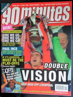 Manchester United Old Trafford, Vintage Football, Magazine Articles, Wimbledon, Leicester, Liverpool, Magazines, 18th, The Unit