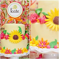 Monogrammed Birthday Cake Sign! Buy a cute cheap layered Buttercream frosted cake and put and adorable sign in it! WHAH LA instant awesome!