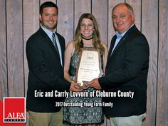 Outstanding Young Farm Family Winners Eric and Carrly Lovvorn of Cleburne County Young Farmers, Farm Family, Create Awareness, Alabama, Leadership