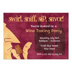 Wine party invitation❣ Zazzle