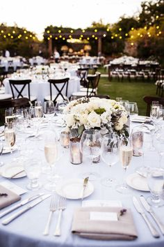Classic Wedding Ideas: Loving this classic vineyard wedding with a neutral color palette! via Style Me Pretty
