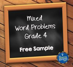 4 FREE worksheets with 20 total word problems for 4th grade!