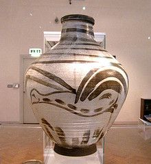 """Studio Pottery in York Art Gallery - William Staite Murray Vase """"Mist Early Morning"""" 1929 (Psychoceramicus) Tags: york tower art b..."""
