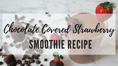 In the spirit of celebrating love this month (and beyond) I bring you this delicious Chocolate Covered Strawberry Smoothie. Chocolate Covered Strawberry Smoothie Recipe, Strawberry Banana Smoothie, Chocolate Covered Strawberries, Chocolate Dipped, Healthy Chocolate, Delicious Chocolate, Smoothie Bowl, Smoothie Recipes