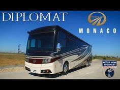 Must See New Luxury Motorhome! 2016 2017 Monaco Diplomat RV - hate that it's from a dealer but you can mute.gorgeous inside!