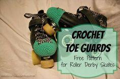 Free Crochet Toe Guard Pattern for Roller Skates/Roller Derby. I need to make these! Roller Derby Clothes, Roller Derby Skates, Roller Derby Girls, Quad Skates, Roller Skating, Helmet Hair, Derby Time, Stoff Design, Skater Girls