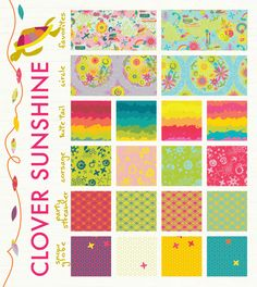 Clover Sunshine - new fabric line by @Alison Glass