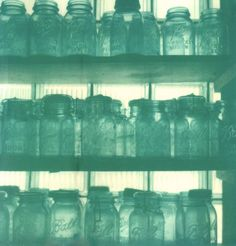 Ball Jars in Blue (well more like teal but you know what I mean)