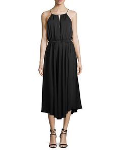 MILLY CASEY DRAPED STRETCH-SILK DRESS. #milly #cloth #