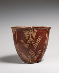 White Cross-lined Ware Bowl w/ Geometric Patterns -- Circa 3700-3650 BCE -- Predynastic Egypt -- Pottery & paint -- The Metropolitan Museum of Art