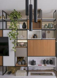 Home Office Design, Home Office Decor, House Design, Shelving Design, Shelf Design, Diy Interior, Interior Design, Room Deviders, Living Room Wall Designs