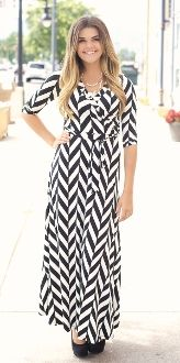 Black and white diagonal stripe maxi, love this for the Fall!