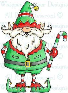 Santa Elf - Christmas Images - Christmas - Rubber Stamps - Shop