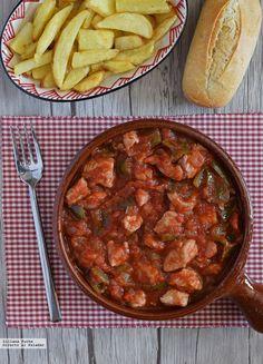 Spanish Pork, Spanish Tapas, Spanish Meals, Spanish Recipes, Pork Recipes, New Recipes, A Food, Food And Drink, Pork Stew