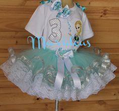 Conjunto tutu Elsa de Frozen con Encaje Marideas