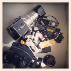 Hasselblad, contax, film, cameras