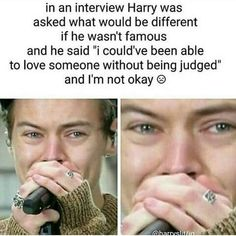 Larry all the way we love you no matter what❤️❤️❤️ One Direction Lyrics, One Direction Harry, One Direction Humor, One Direction Pictures, Harry Styles Quotes, Harry Styles Imagines, Harry Styles Pictures, 1d Imagines, Harry Styles Crying